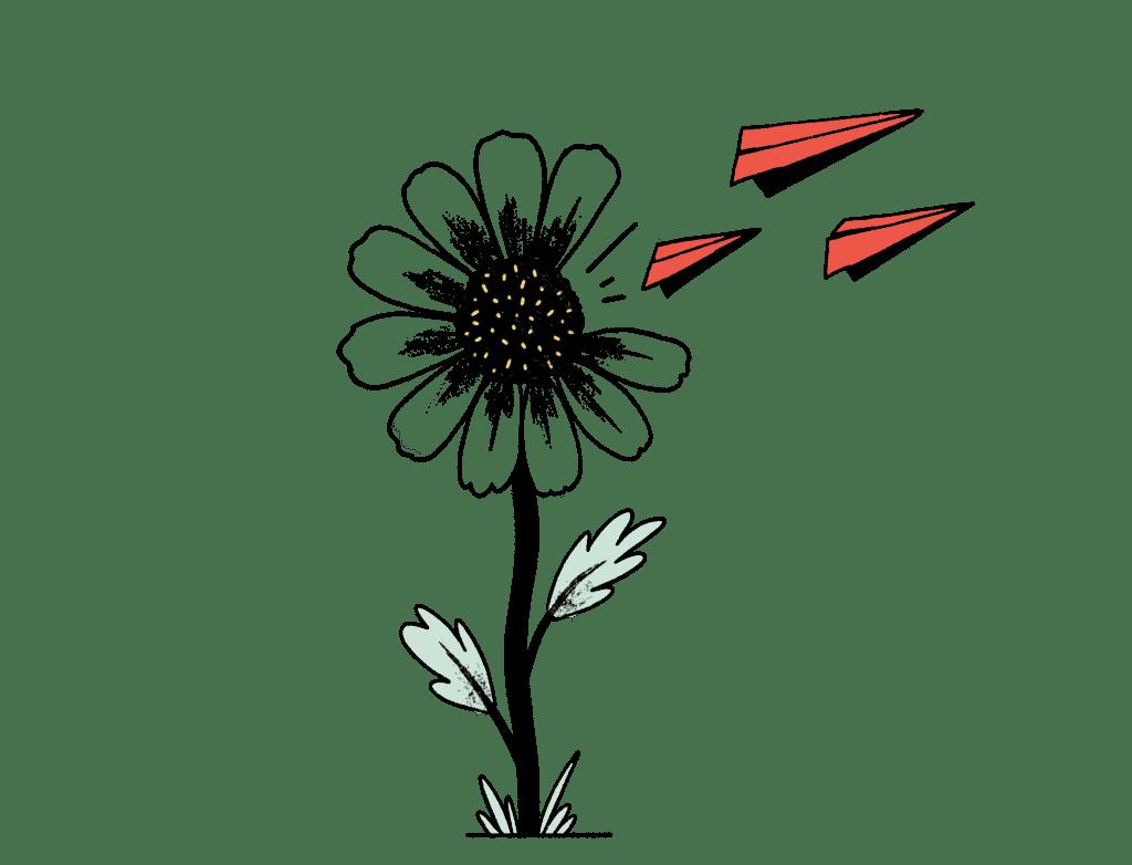Illustration send mail